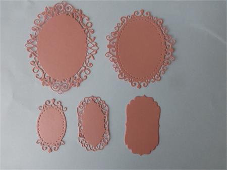 Die Cuts Peach Ovals
