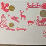 RED CHRISTMAS DIE CUTS.    