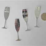Die Cuts x 4 Silver Wine Glasses 
