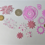 Pink Mix Flower Die Cuts.     Postage Included