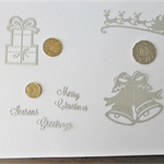 SILVER CHRISTMAS DIE CUTS.  
