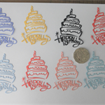8 x DIE CUTS CAKE Postage Included
