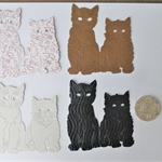 4 x DIE CUTS TWO CATS Postage Included