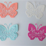 Die Cuts Four (4) Large Butterflies