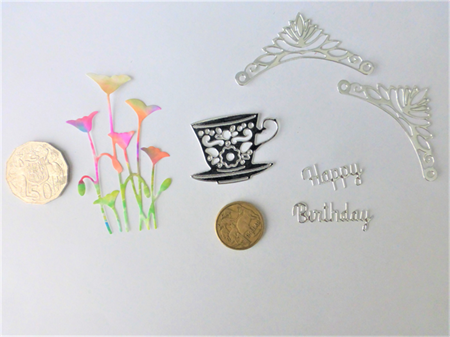 Silver Die Cuts.