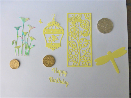 Lemon and Multi Colour Die Cuts.   Postage Included
