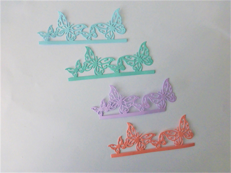 Die Cuts x 4 Pieces of Butterflies  Postage Included