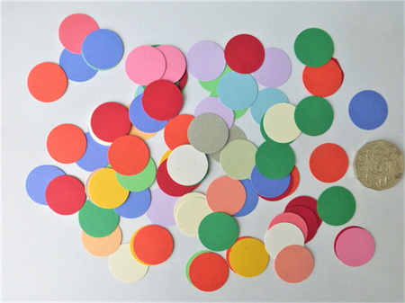100 pce Mixed Circle Die Cuts.   