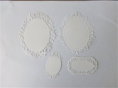 White Lace Oval Die Cuts
