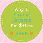 Sewing Pattern Bundle - 5 PDF Sewing Patterns of Your Choice
