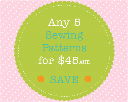 Sewing Pattern Bundle - 5 PDF Sewing Patterns of Your Choice