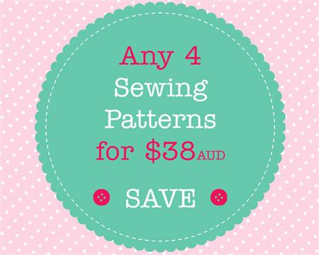 Sewing Pattern Bundle - 4 PDF Sewing Patterns of Your Choice