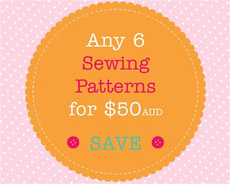 Sewing Pattern Bundle - 6 PDF Sewing Patterns of Your Choice