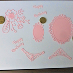 Light Pink Die Cuts. Postage Included