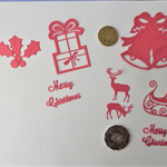 Red Xmas Die Cuts.