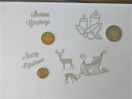 Die Cuts x Silver Christmas  Postage Included
