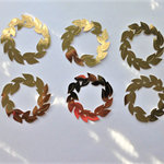 Gold Wreaths x 6 Die Cuts Free Postage