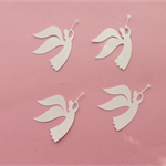 White Angels x 10 Die Cuts
