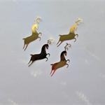 Gold Reindeer x 8 Die Cuts Free Postage
