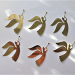 Gold Angels x 6 Die Cuts