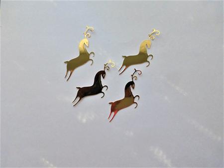 Gold Reindeer x 6 Die Cuts Free Postage