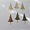 Gold Christmas Tree Die Cuts x 6