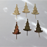 Gold Christmas Tree Die Cuts x 8