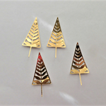 Gold Christmas Trees x 4