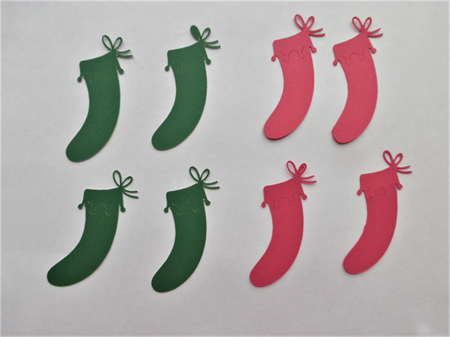Die Cuts x 8 Christmas Stockings