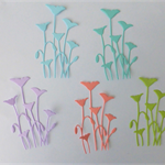 Set of Five Field Flowers