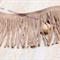 1m x12cm Camel Beige Faux Soft Suede Fringe Tassels Trim Lace