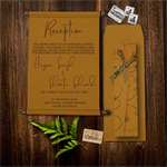 Copper Royal Scroll Wedding Invitations