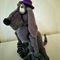 Mr Sherlock, crocheted dog