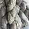100 grams 1 skein recycled silk ribbon silver grey