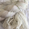 100 grams 1 skein of off white cream mix recycled silk ribbon