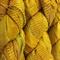100 grams 1 skein recycled silk ribbon  knitting crochet craft yarn yellow