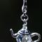 2 Silver tone tea pot Teapot Kettle frame settings for beads