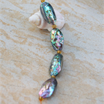 4 Natural Paua Abalone Shell both sided beads