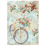Rice Paper - Decoupage - 1 x A4 Size Sheet - Vintage Bike