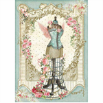 Rice Paper - Decoupage - 1 x A4 Size Sheet - Flower Mannequin