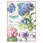 Rice Paper - Decoupage - 1 x A4 Size Sheet - Hydrangeas