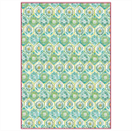 Rice Paper - Decoupage - 1 x A4 Size Sheet - Green Pattern