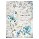 Rice Paper - Decoupage - 1 x A4 Size Sheet - Dreams