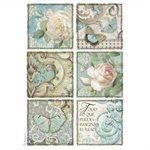 Rice Paper - Decoupage - 1 x A4 Size Sheet - Blue Postcards