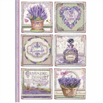 Rice Paper - Decoupage - 1 x A4 Size Sheet - Lavender Cards