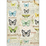 Rice Paper - Decoupage - 1 x A4 Size Sheet - Butterflies