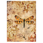 Rice Paper - Decoupage - 1 x A4 Size Sheet - Dragonfly