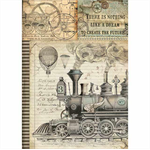 Rice Paper - Decoupage - 1 x A4 Size Sheet - Train