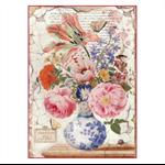 Rice Paper - Decoupage - 1 x A4 Size Sheet - Vintage Vase