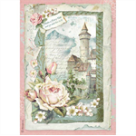 Rice Paper - Decoupage - 1 x A4 Size Sheet - Castle